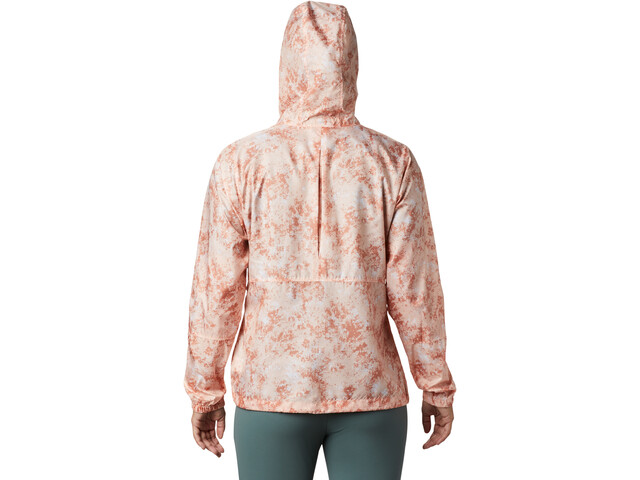 Columbia Flash Forward Printed Veste coupe-vent Femme, peach cloud rubbed texture